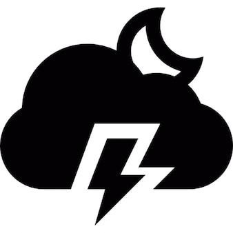 Pronostic de tempestade elétrica na noite