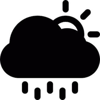Pronostic de um dia chuvoso, com nuvens escondendo o sol