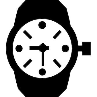 Relógio de pulso de forma circular