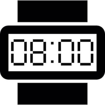 Relógio de pulso digital do formato retangular em 8 oclock