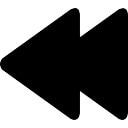 Rewind símbolo de botão multimídia de duas setas pretas