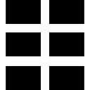 Seis retângulos estrutura de design de interface símbolo
