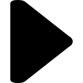Seta para a direita triângulo preto