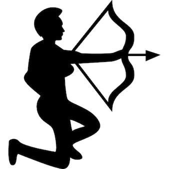 Símbolo arqueiro sagitário