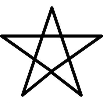 Símbolo de destaque pentagrama