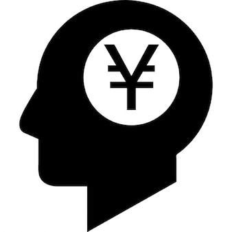 Símbolo de ienes dentro da mente humana