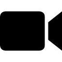 Símbolo de vídeo da câmera preta