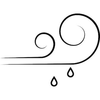 Símbolo pronostic ventoso e chuvoso de ios 7 de interface