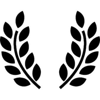 Símbolo ramos de oliveira prêmio