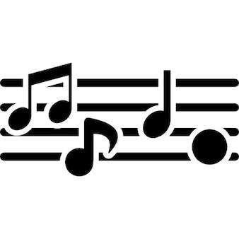 Símbolos composição de música