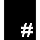 Sinal Numeral em retângulo vertical preta
