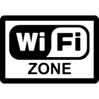 Sinal zona retangular wi-fi