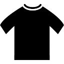 T-shirt preto do sexo masculino