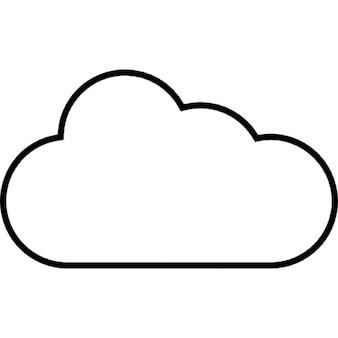 Tempo nublado, ios 7 símbolo