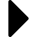 Triangular seta para a direita preta