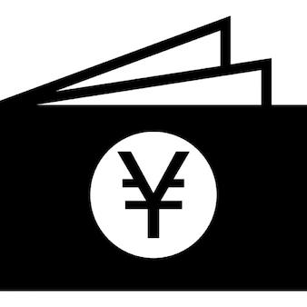 Yen dinheiro carteira