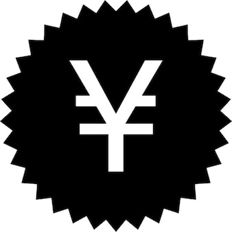 Yen japonês adesivo