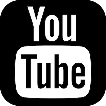Youtube arredondado logotipo quadrado
