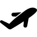 Airplane silhouette rempli