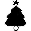 Arbre de Noël décoré par un astérisque