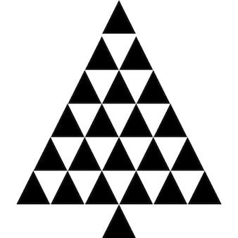 Arbre de Noël formé par des triangles