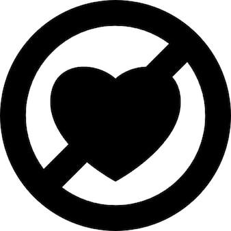 Arrêter symbole de l'amour