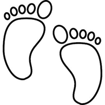 Baby foot print, iOS 7 symbole