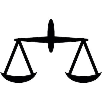 Balance balance et le symbole de la justice