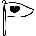 Bannière avec le coeur