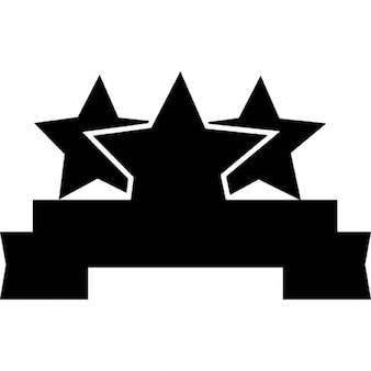 Bannière de ruban avec des étoiles