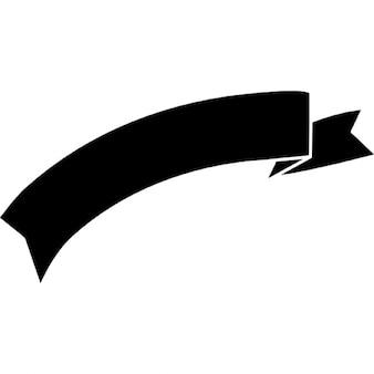 Bannière de ruban silhouette