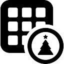 Block et arbre de Noël