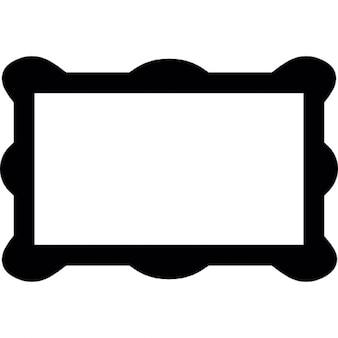 Cadre rectangulaire avec des coins arrondis