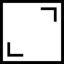 Carré symbole de bouton de l'interface pour les images