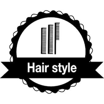 Cheveux insigne de style avec des peignes