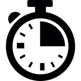 Chronomètre, un quart d'heure, de la logistique