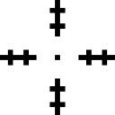 Cible Croix symbole concentrant