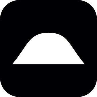 Colline sur un fond carré noir