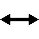 Double flèche horizontale pointant vers les deux côtés