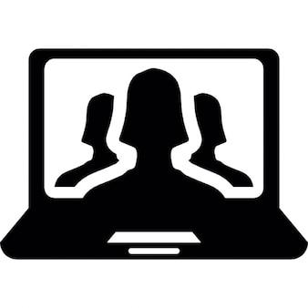 écran d'ordinateur portable avec les profils utilisateur