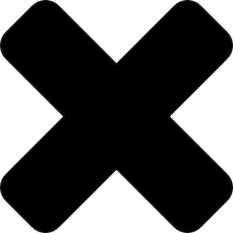 Enlever l'interface symbole de la croix