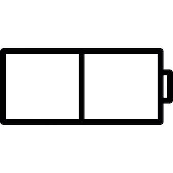 demi signe de la batterie t l charger icons gratuitement. Black Bedroom Furniture Sets. Home Design Ideas
