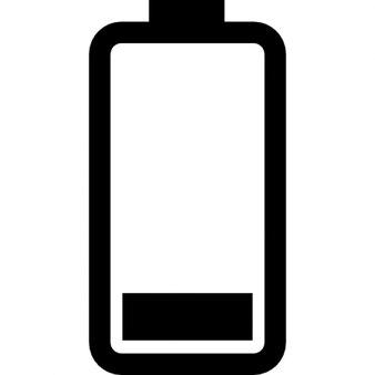 tat de la batterie les trois quarts charg t l charger icons gratuitement. Black Bedroom Furniture Sets. Home Design Ideas