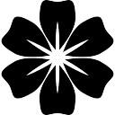Fleur avec des pétales arrondis