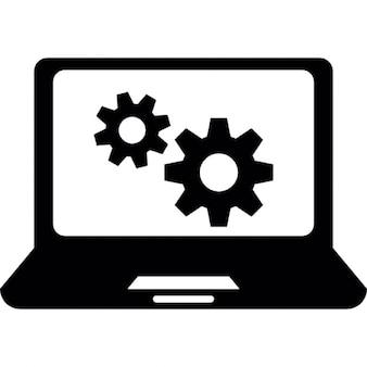 Fond d'écran d'ordinateur portable roues dentées