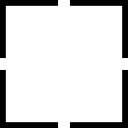 Forme carrée de quatre angles