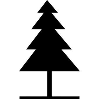 Forme d'arbre de pin pour Noël