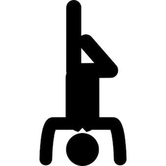 Inversé posture de yoga