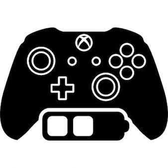 Jeux xbox contrôler avec le statut de la batterie moyen