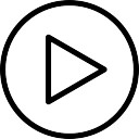 Jouer flèche triangle bouton circulaire aperçu